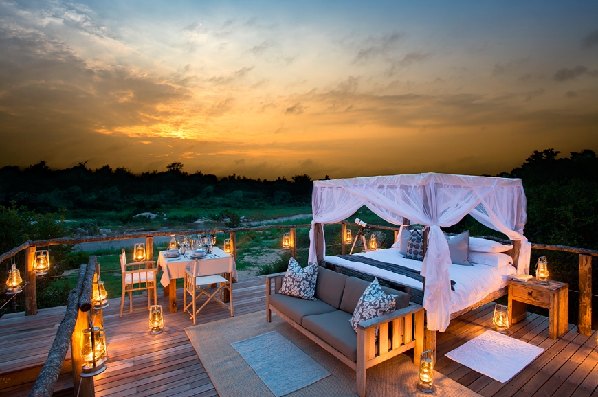 boomhut inspiratie Lion Sands Game Reserve 1