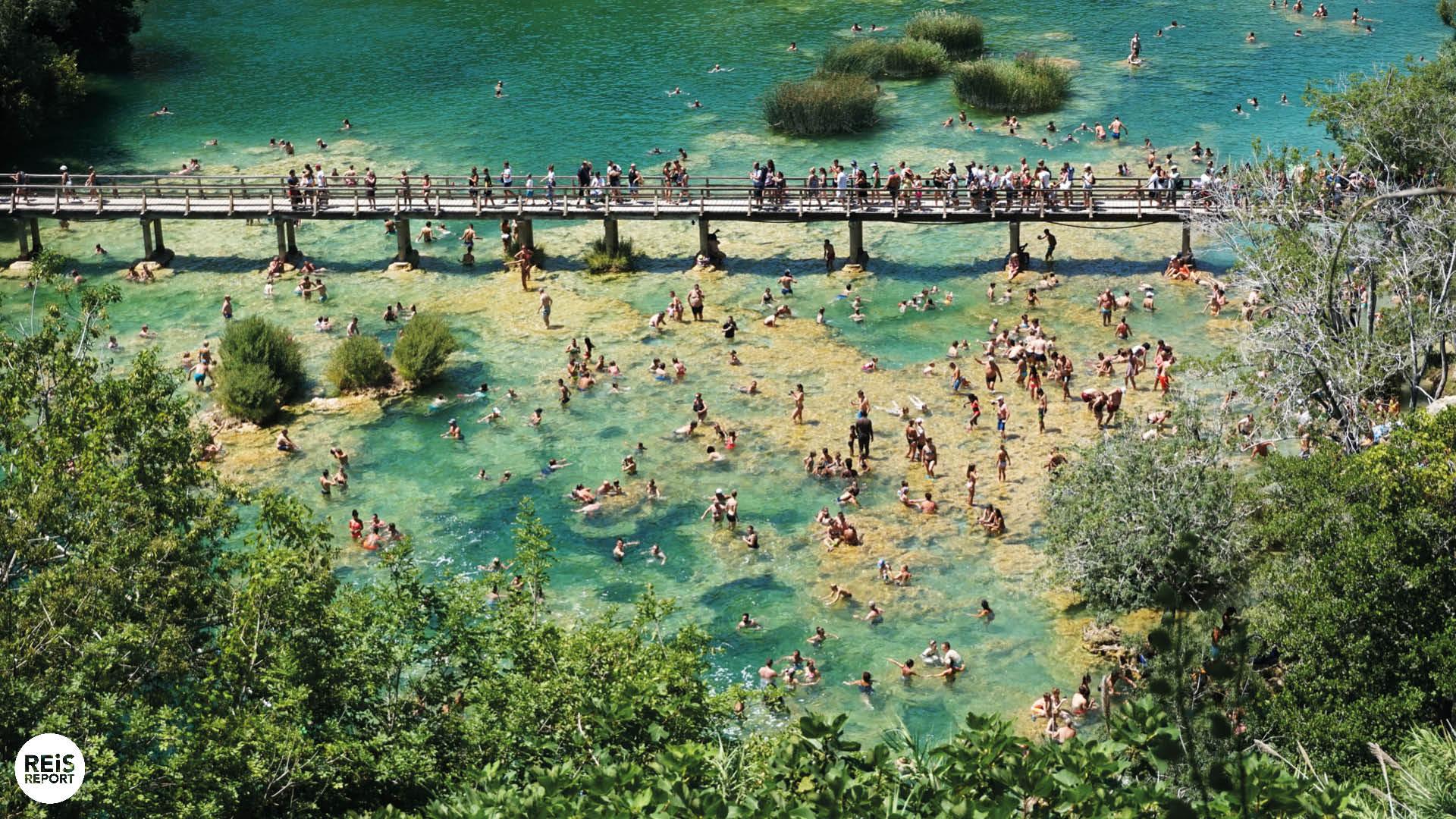 krka nationaal park zwemmen