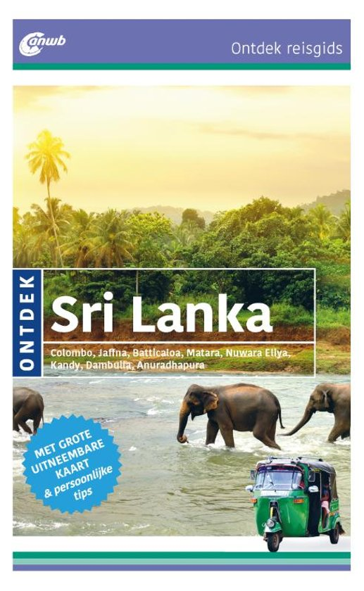 Reisgids: ANWB Ontdek reisgids Sri Lanka cover
