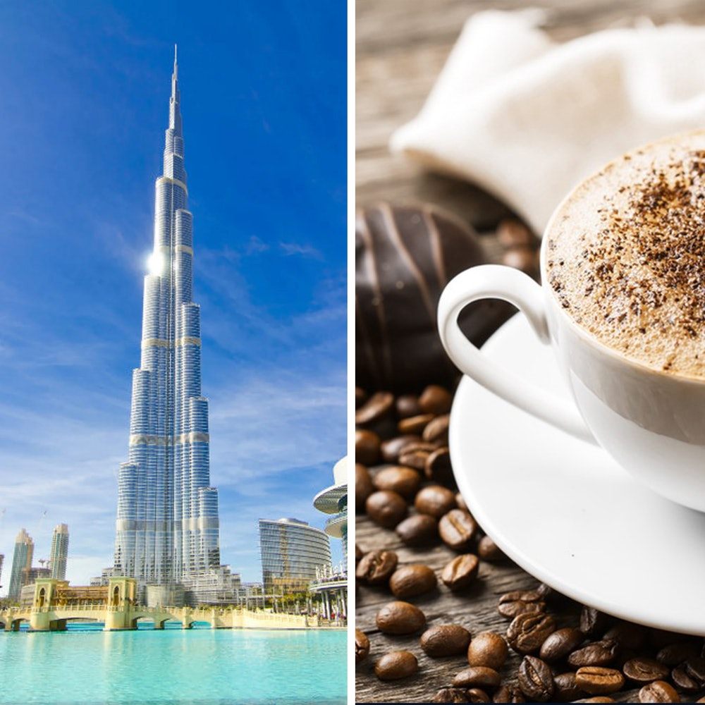 Burj Khalifa panoramaview op de top + koffie en gebak cover