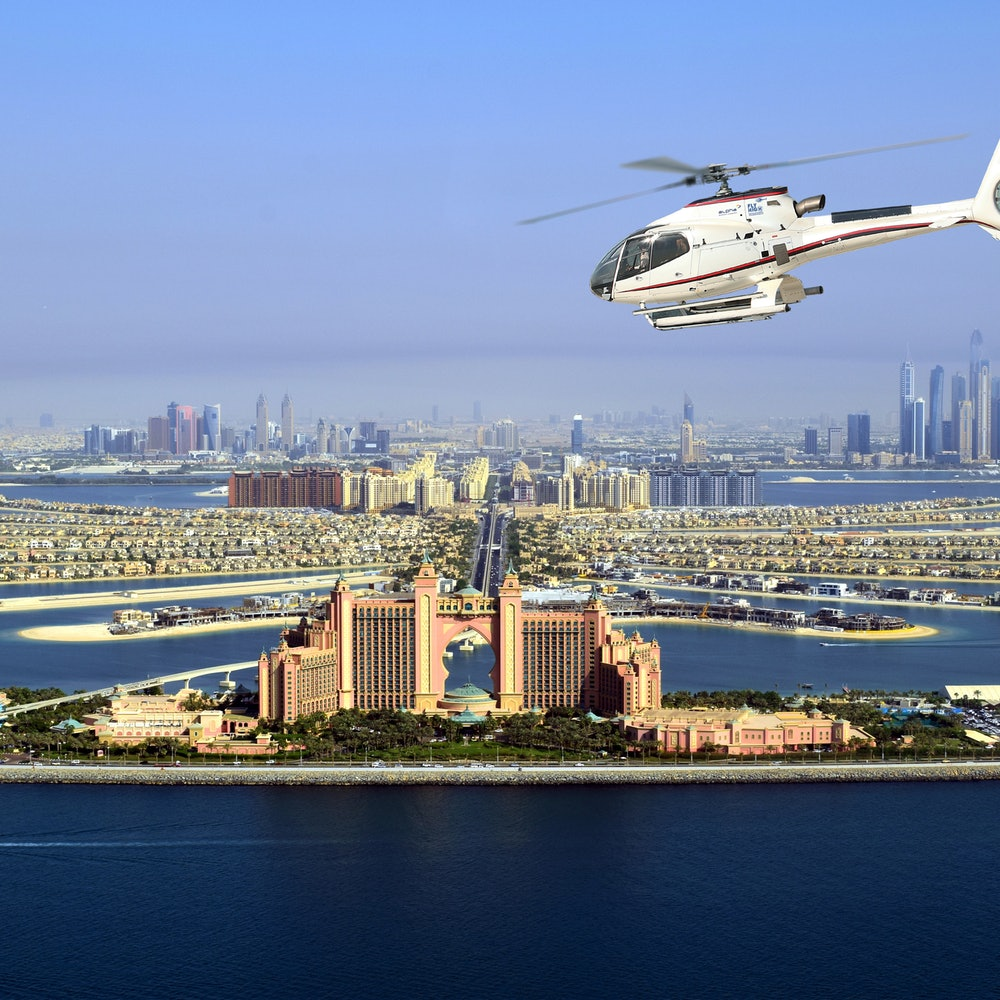 Helikoptervlucht over Dubai cover