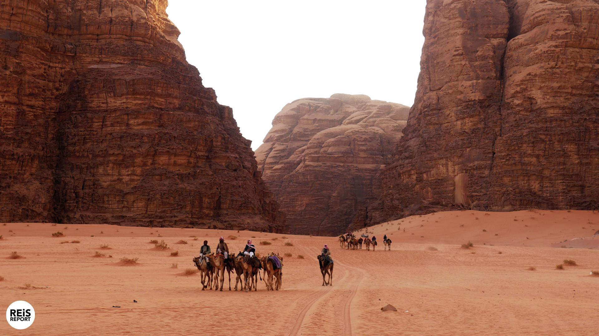 30 minuten kameelrijden in de Wadi Rum cover