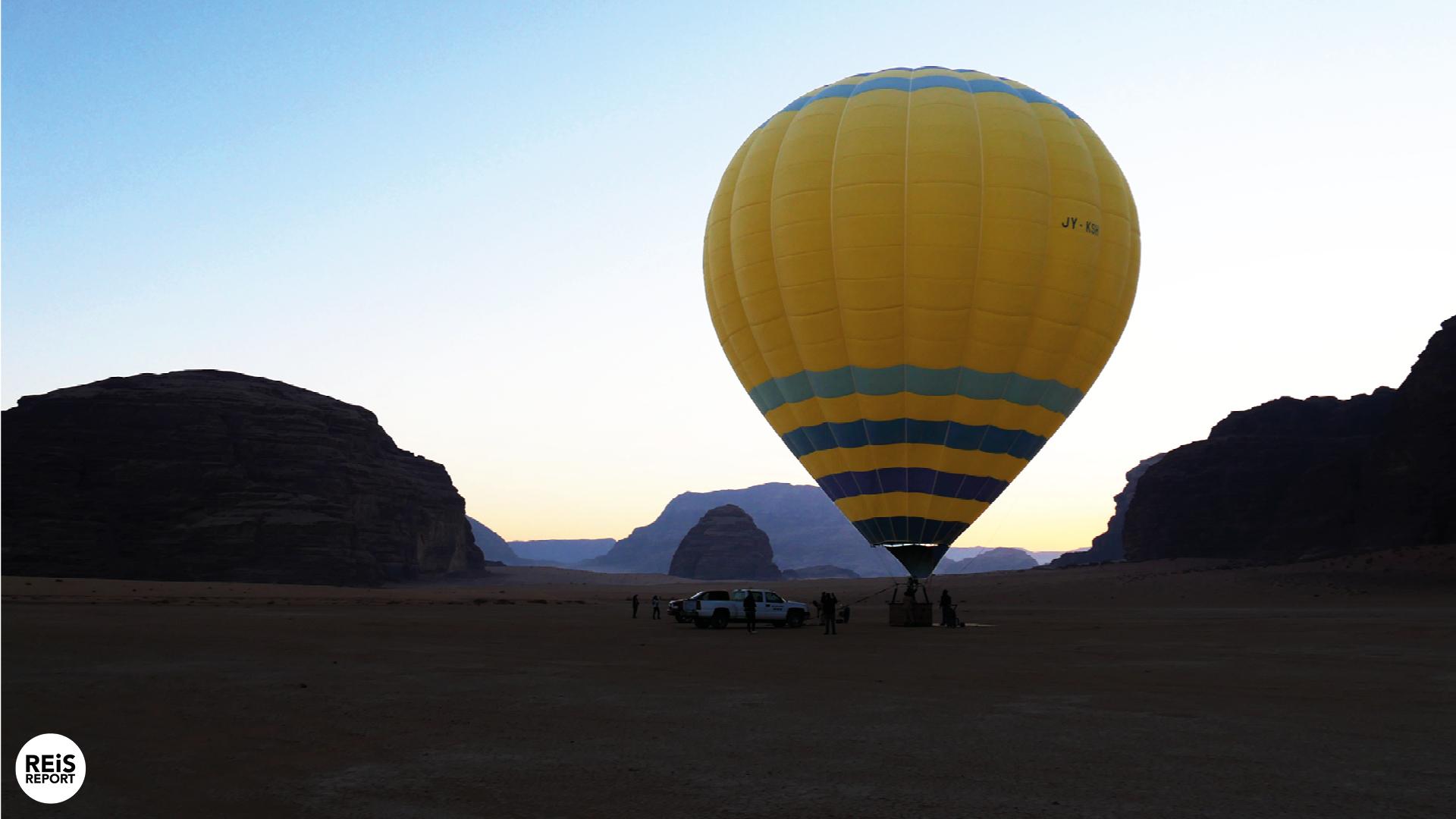 Luchtballonvaart over de Wadi Rum cover