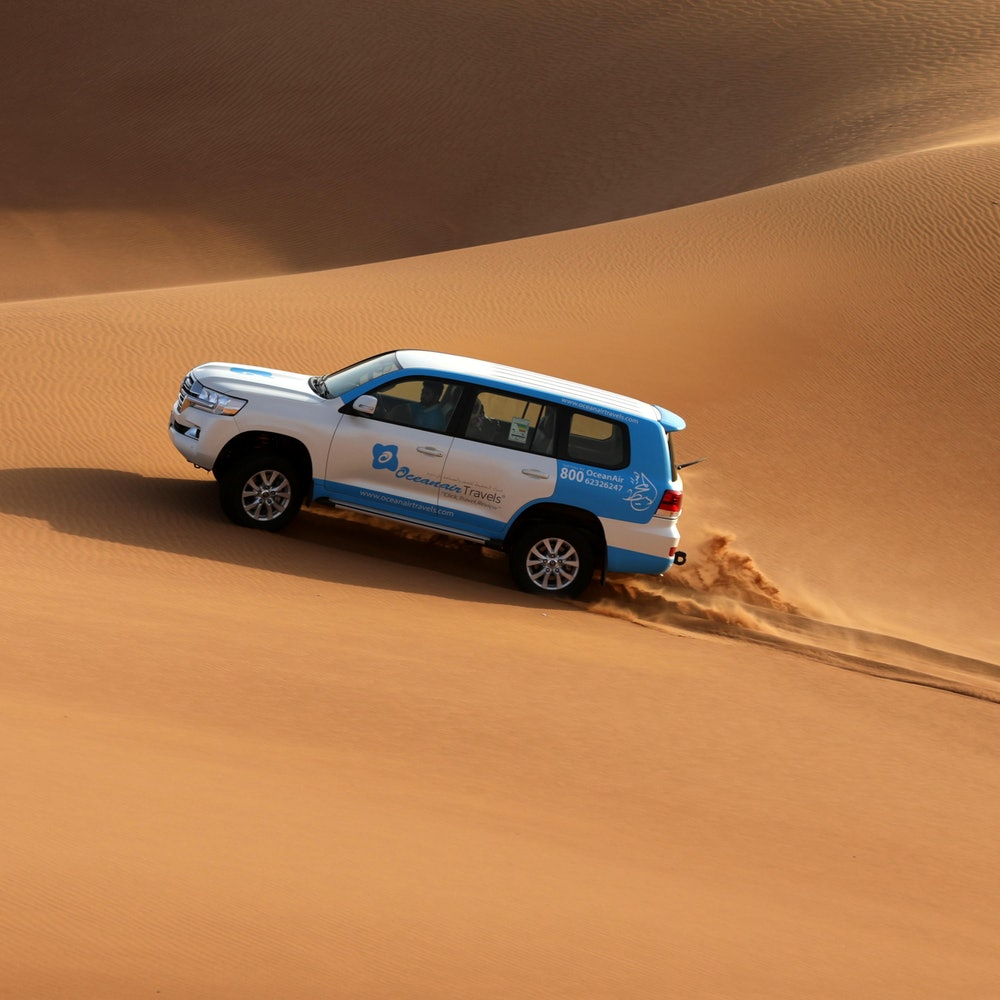 Ochtendsafari in de woestijn + sandboarden cover