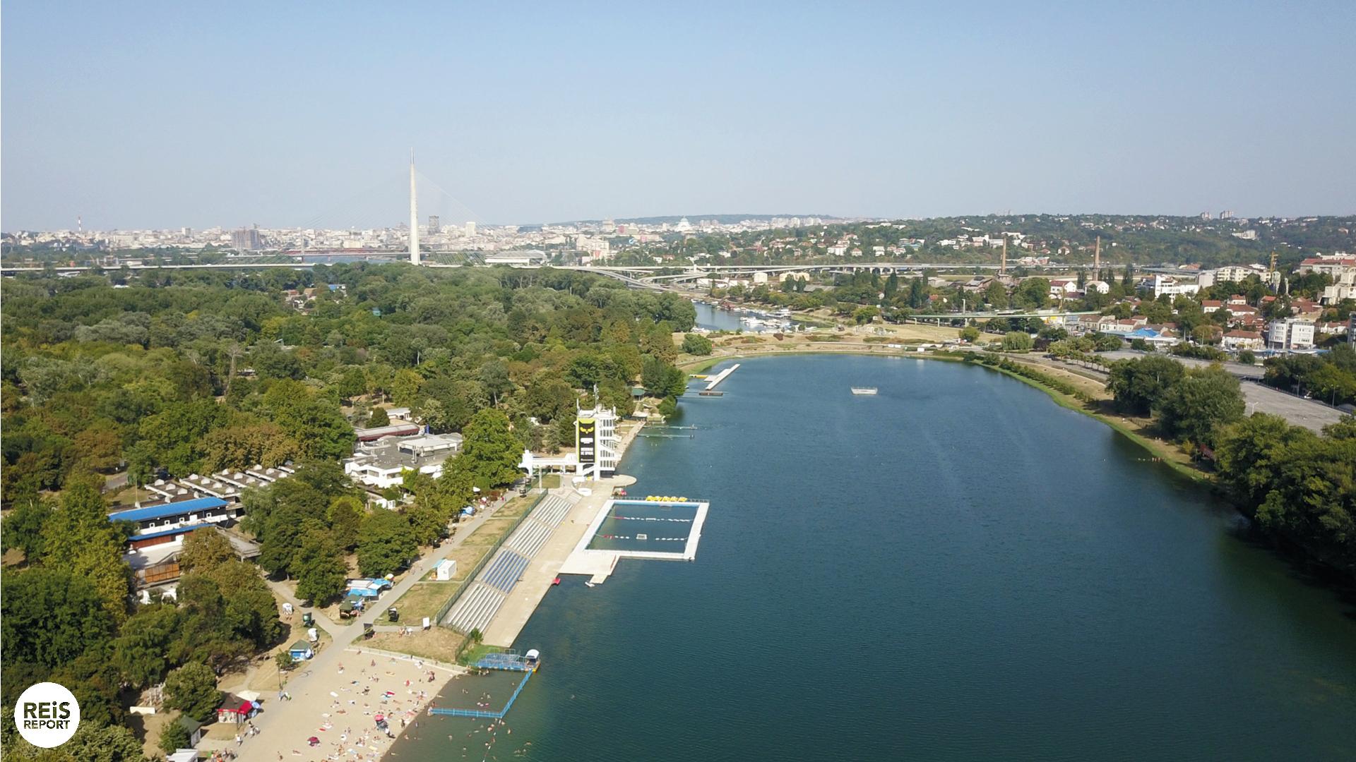 stranden in Belgrado