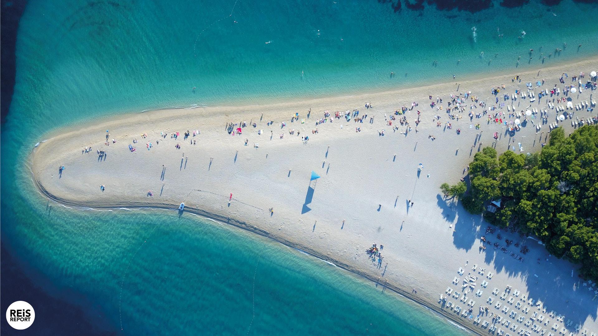zlatni rat strand kroatie brac