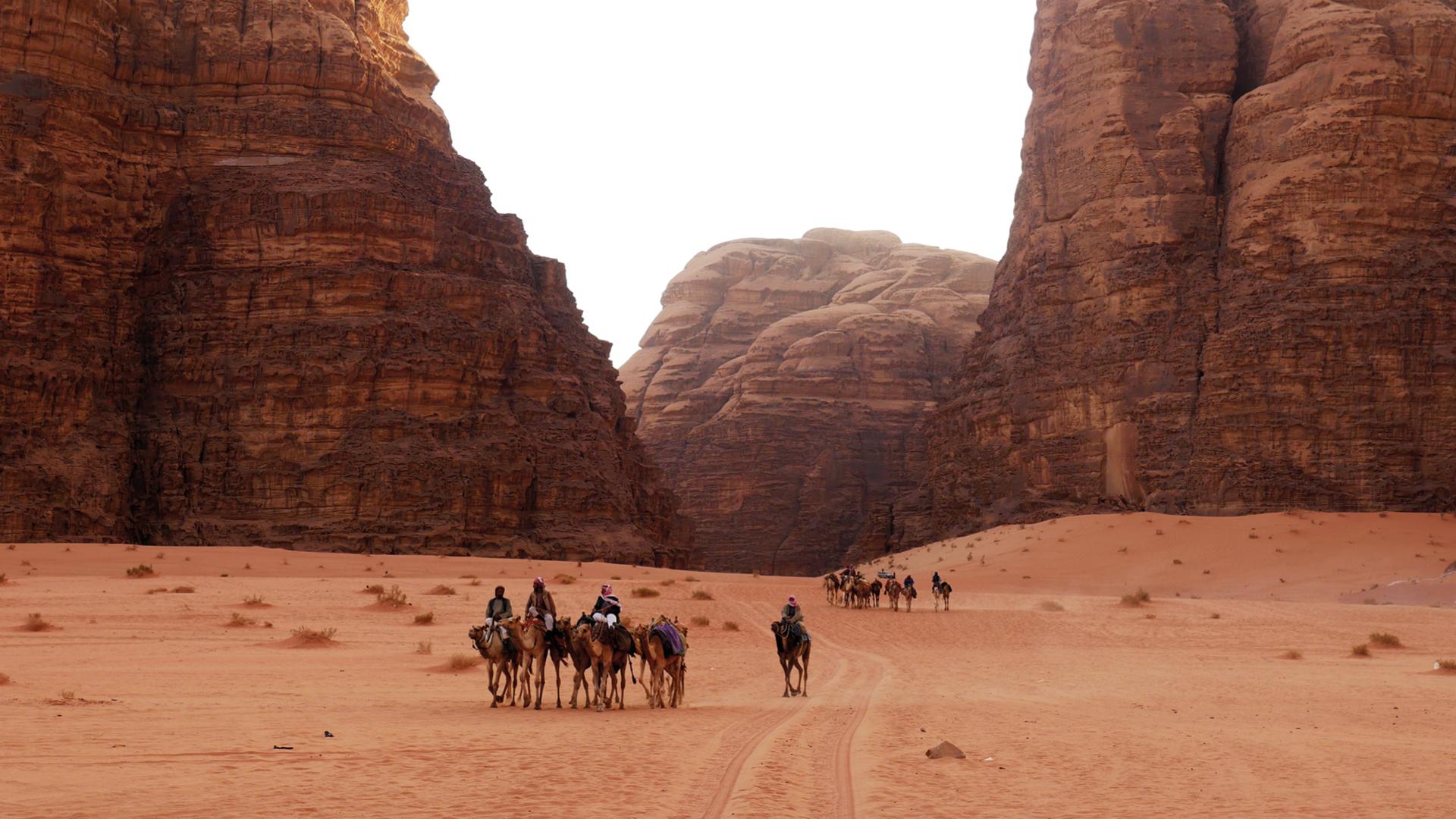 wadi rum woestijn in jordanië