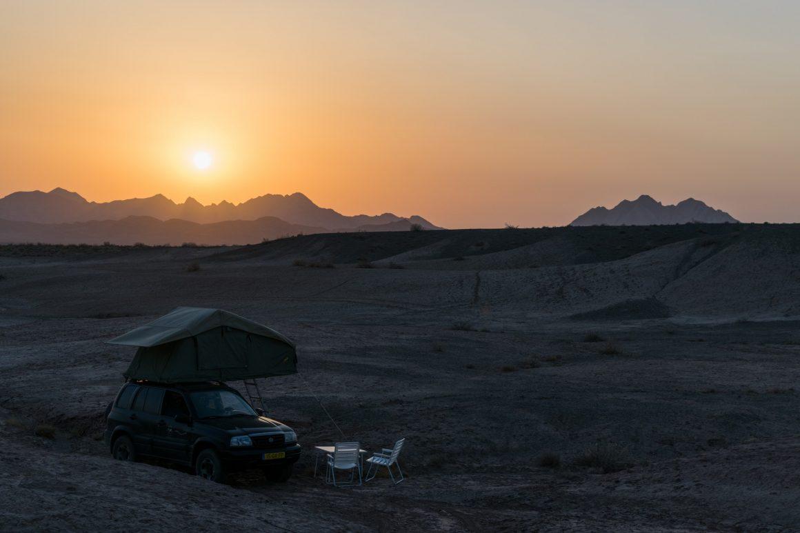 kamperen in iran eigen vervoer