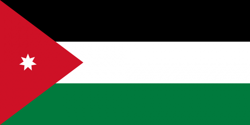 vlag van jordanië