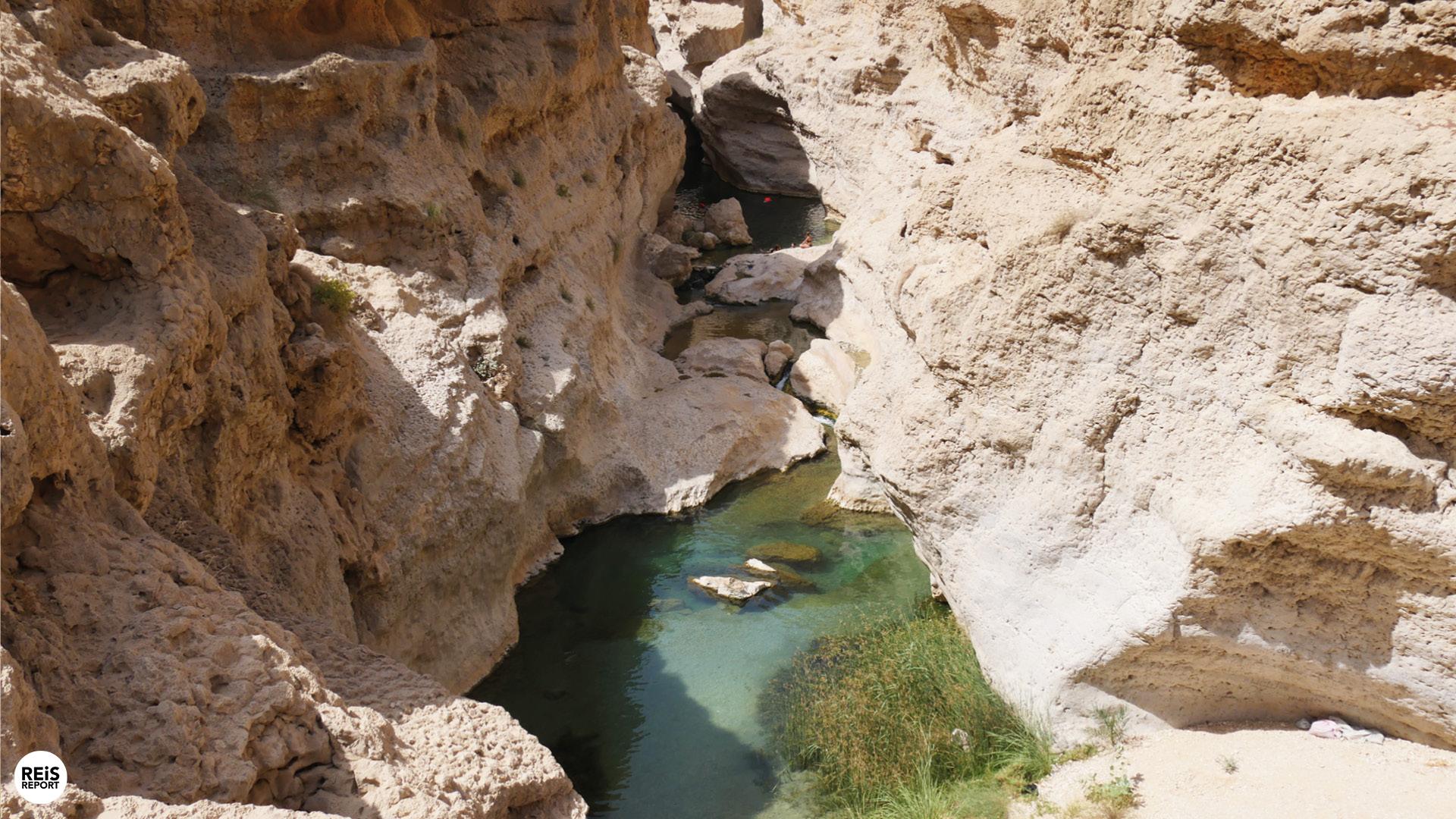 wadi shab zwemmen