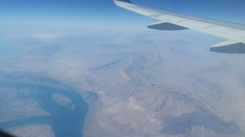 Prachtige uitzichten tijdens het vliegen