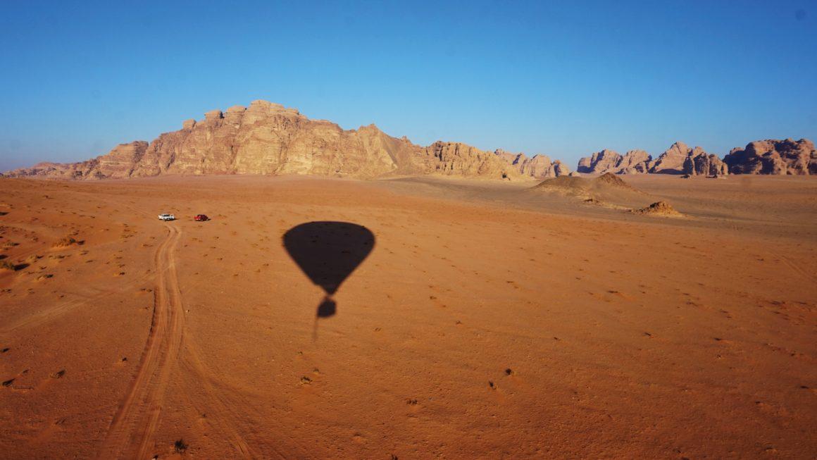 Ballonvaart over de Wadi Rum, Jordanië