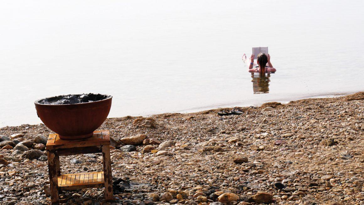 Dode Zee: drijven en modderen, Jordanië