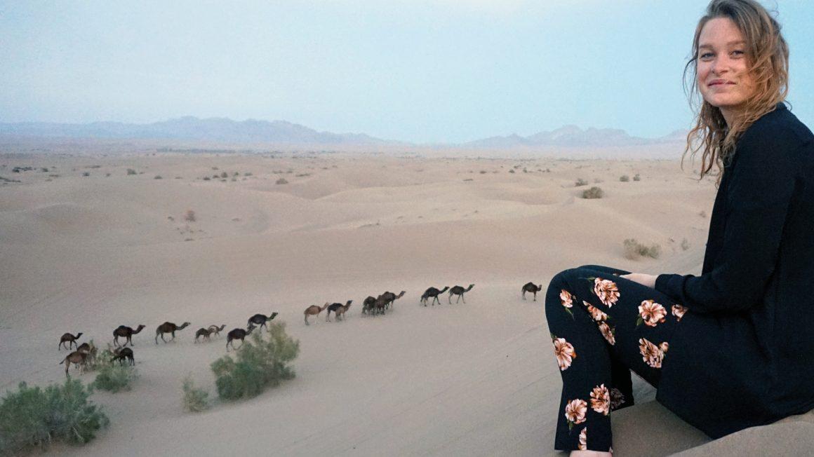 Overnachten in de woestijn, Iran
