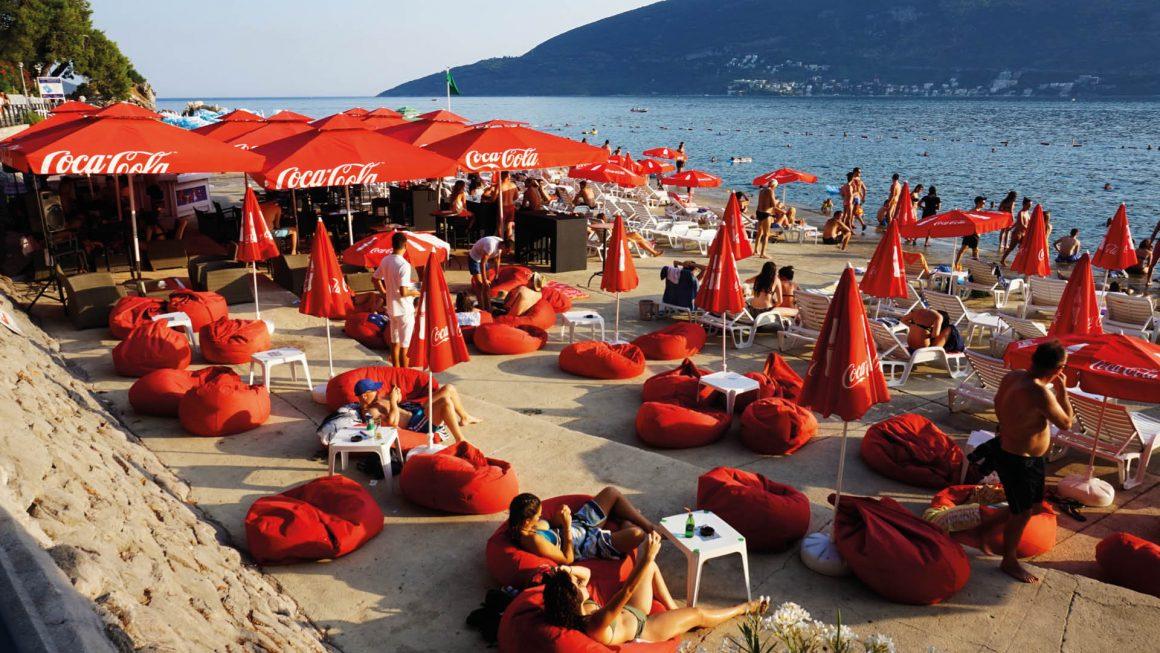 Herceg Novi, een populaire badplaats, Montenegro