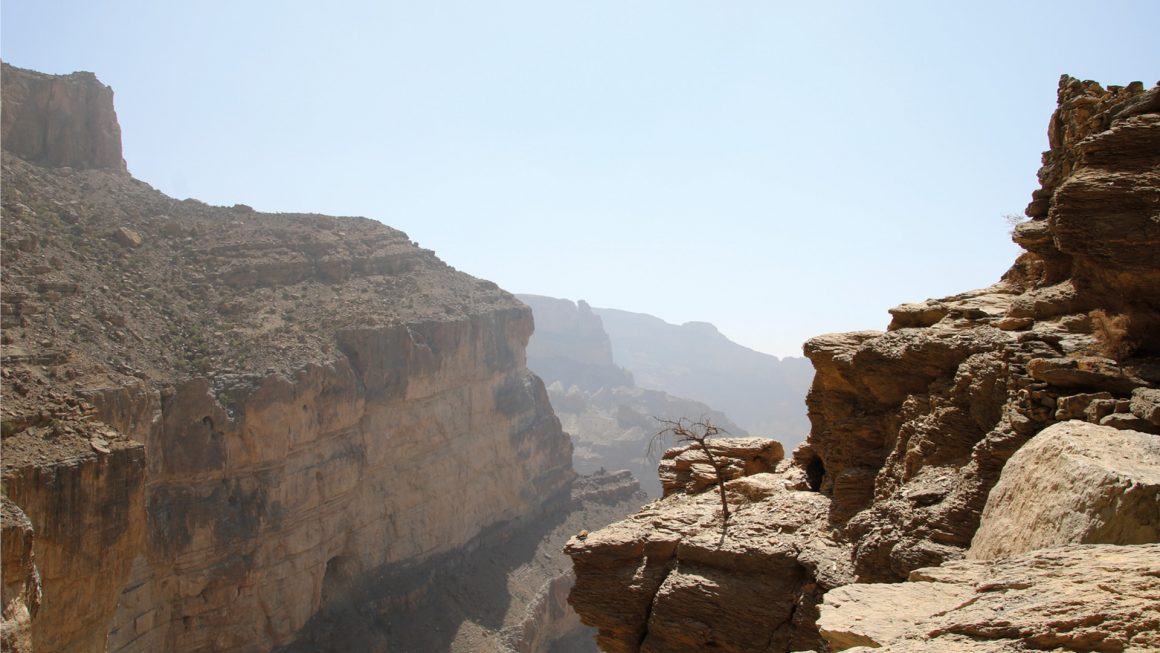 Jebel Shams gebergte, Oman