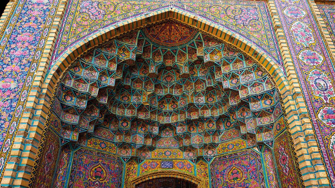 Nasir al-Molk moskee in Shiraz, Iran