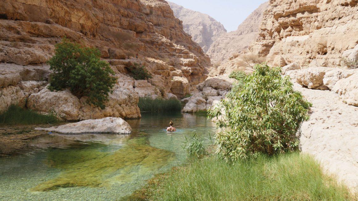 Wadi Shab: zwemmen en hiken, Oman