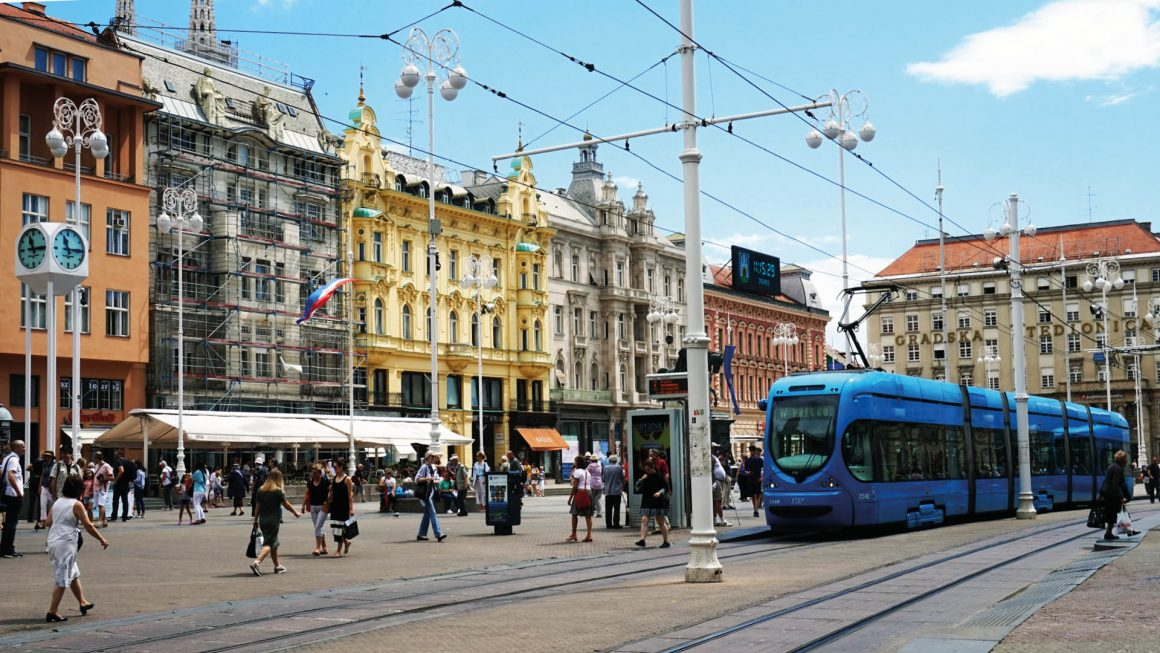 Zagreb, de hoofdstad van Kroatië, Kroatië
