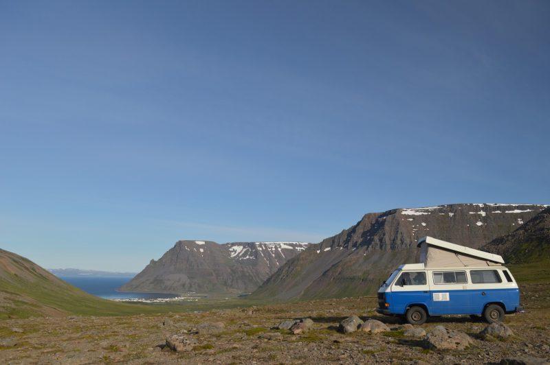 Kamperen in de buurt van Isafjordur
