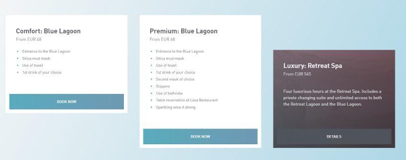 blue lagoon prijzen