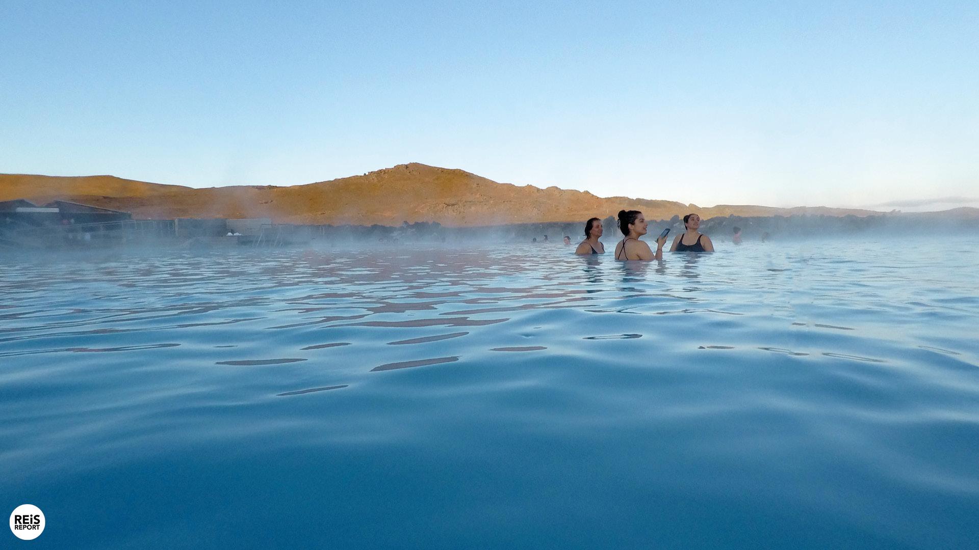 Relaxen in een lagune, IJsland