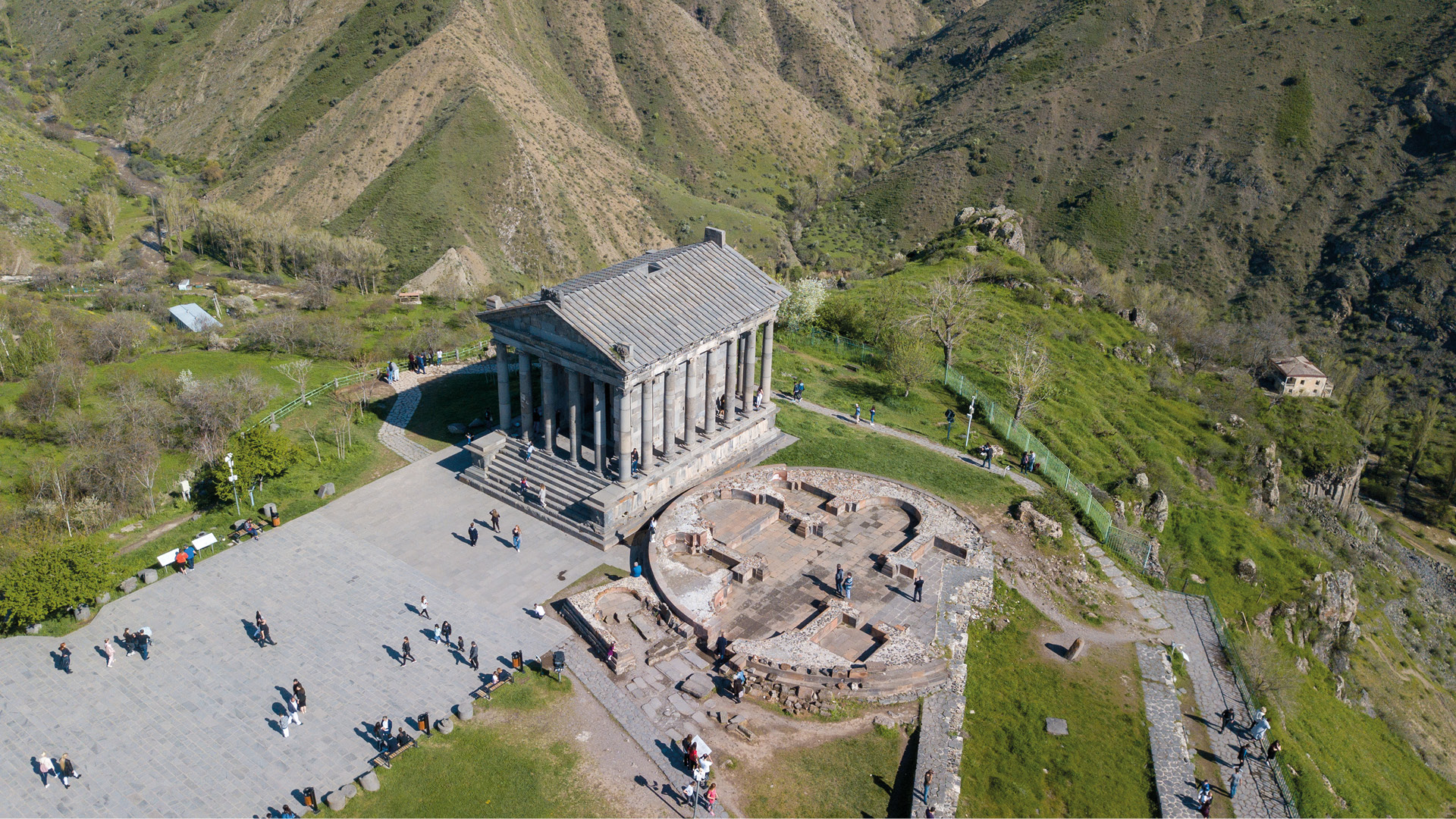 Garni tempel en Geghard klooster, Armenië